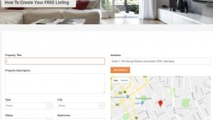 Create an account - then create your listing 3
